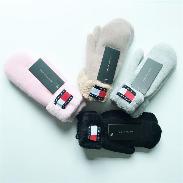 2020 зима новый плюс бархат трикотажные перчатки моды для мужчин и женщин теплые варежки наружные холодные перчатки освобождают перевозку груза