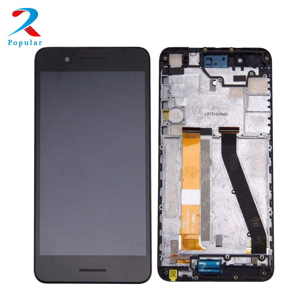 For HTC Desire 728 728G Full Touch Screen Panel Digitizer Sensor Glass + LCD Display Screen Monitor Panel Module Assembly Frame