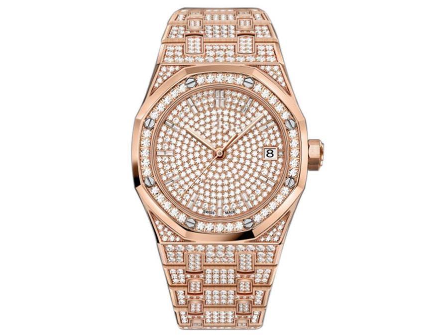 Новый высококачественный человек 3120 размер движения 41mmX10mm дизайн часы автоматическое механическое сверление алмазные часы набор сверление