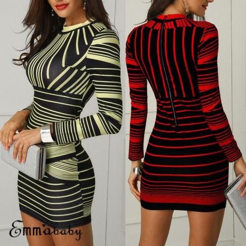 Retro Hot Sexy Women Stretchy Imprimé Ensemble Hip Bodycon Bandage Mini Girls Dress Club Short Sexy Party Robe crayon