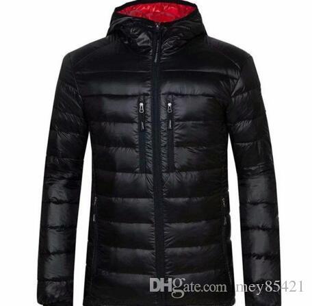 Yüksek Kalite Yeni Kış erkekler Aşağı kirpi ceket Casual Marka Kapüşonlular Aşağı Parkas Kayak Erkek Coats 200 Isınma