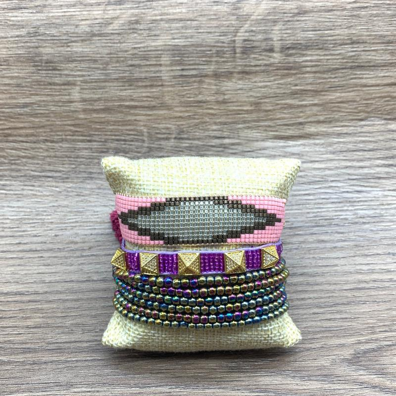 Joyería de la pulsera turca borla pulsera MIYUKI corazón SHINUSBOHO 2020 nuevos mujeres de los hombres del perno prisionero Pulseras Hombre hecho a mano