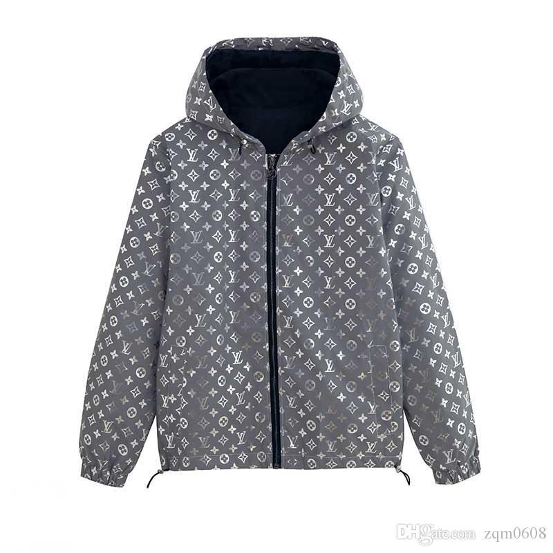2020 Veste à capuche design de mode Vêtements pour hommes Carte militaire Vestes Reflective capuche Noir Hommes de luxe Vestes Sweats à capuche Noctilucent Taille