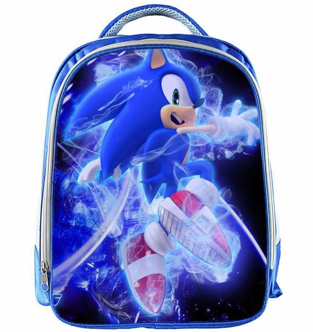 13 Inch Super Mario Backpack Children Cartoon Sonic Backpacks Boys Girls Schoolbag For Kindergarten Daily Backpack Kids Bookbag Y19061102
