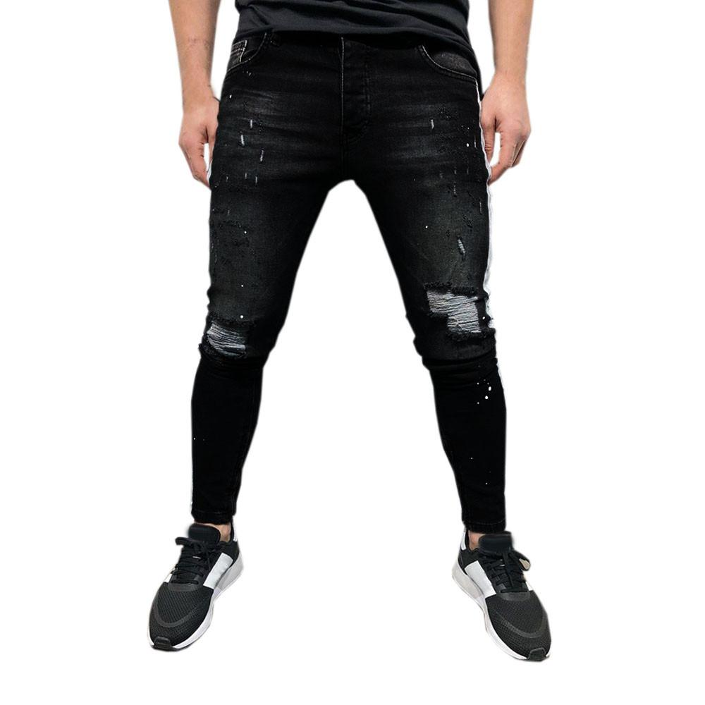 Mens Denim Black Hip Hop Jogger Jeans Side Striped Trousers Ripped Jeans For Men Pants Pantalones Vaqueros Hombre 2019 Jean 20 Canada 2021 From Sadlyric Cad 37 34 Dhgate Canada