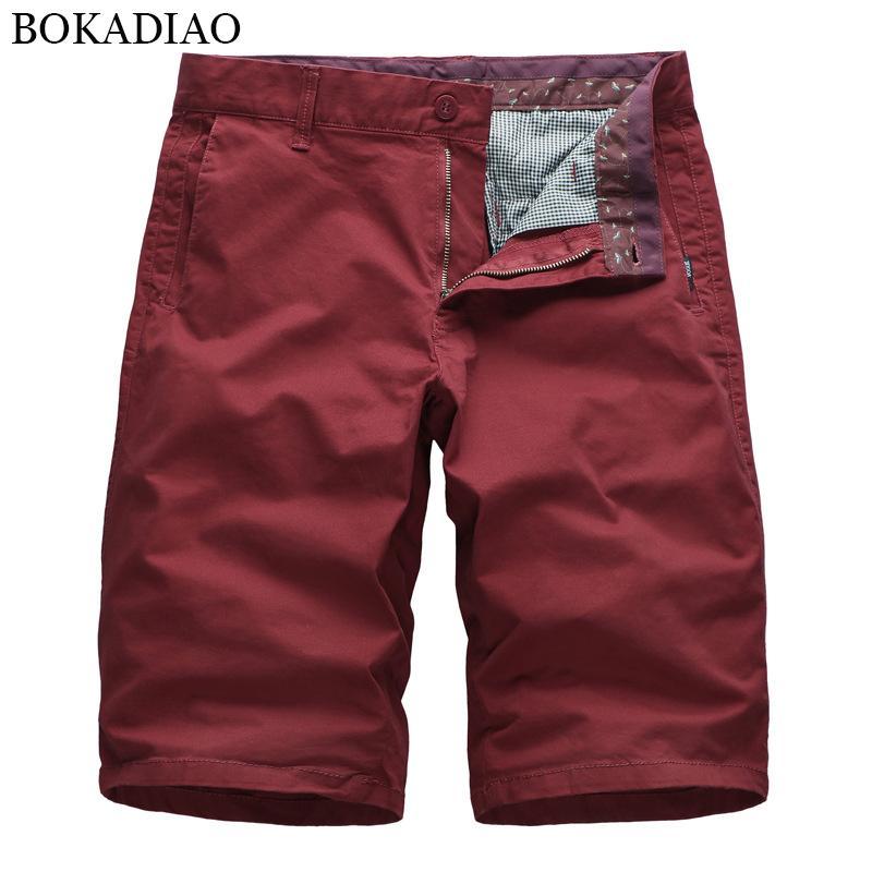 Pantaloncini da uomo Bokadiao estate casual cotone cotone cargo moda bermuda beach streetwear maschile vintage dritto sciolto pantaloni corti