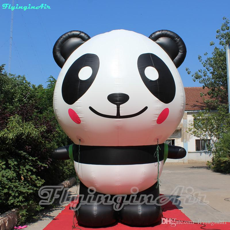 Panda inflable atractivo de 4 m de altura Blow Up Cute Panda con bolsa para la decoración de la tienda