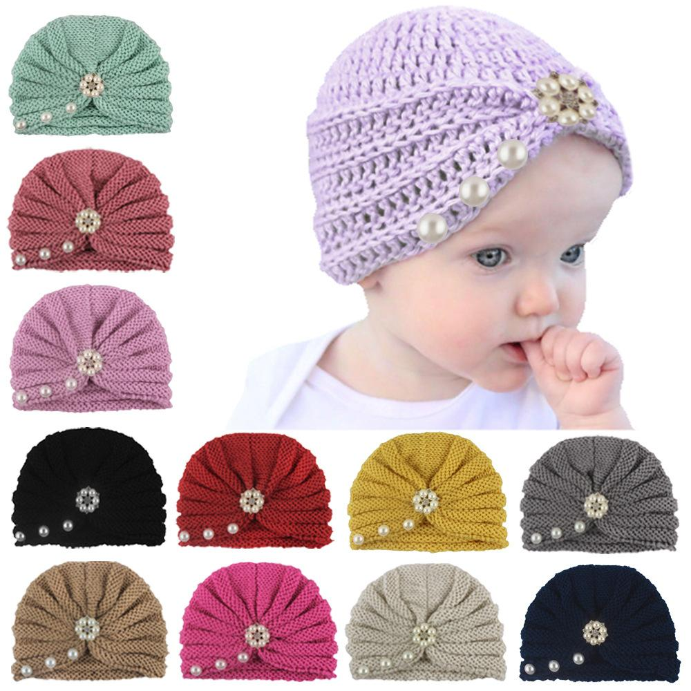 DH.M Toddler Infant Baby Cotton Soft Cute Knit Kids Hat Beanies Woolen Cap