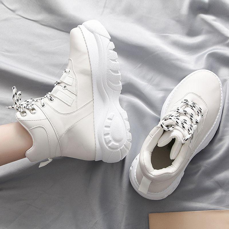 Mode pas cher Chaussures pour femmes 2019 Tide Version coréenne de Chaussures Casual Chaussures papa semelle épaisse pour femmes Femmes Pure Color