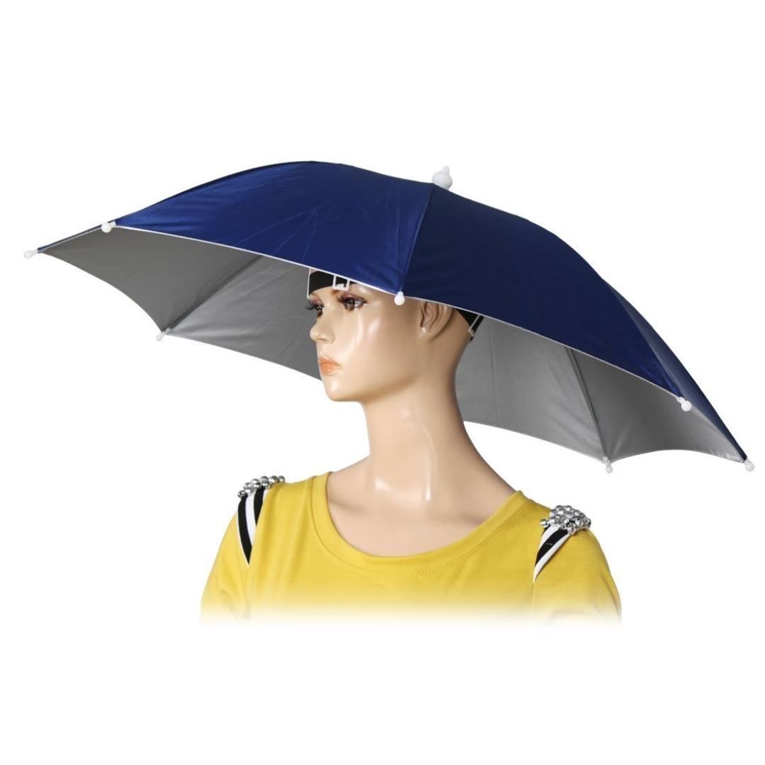 """26 """"القطر مطاطا باند الصيد أغطية الرأس قبعة مظلة أزرق داكن"""