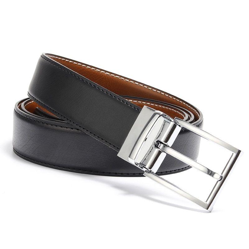 مصمم حزام جلد طبيعي أحزمة عكسية حزام أزياء ذات جودة عالية الإبزيم للرجال فاخر عكسية حزام للرجال شحن مجاني
