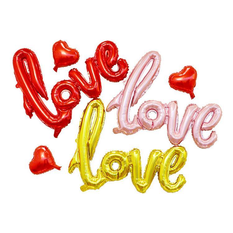 أزياء الحب رسائل الهيليوم بالون حجم كبير الألومنيوم احباط بالونات الزفاف حزب الديكور لوازم مختلط الألوان