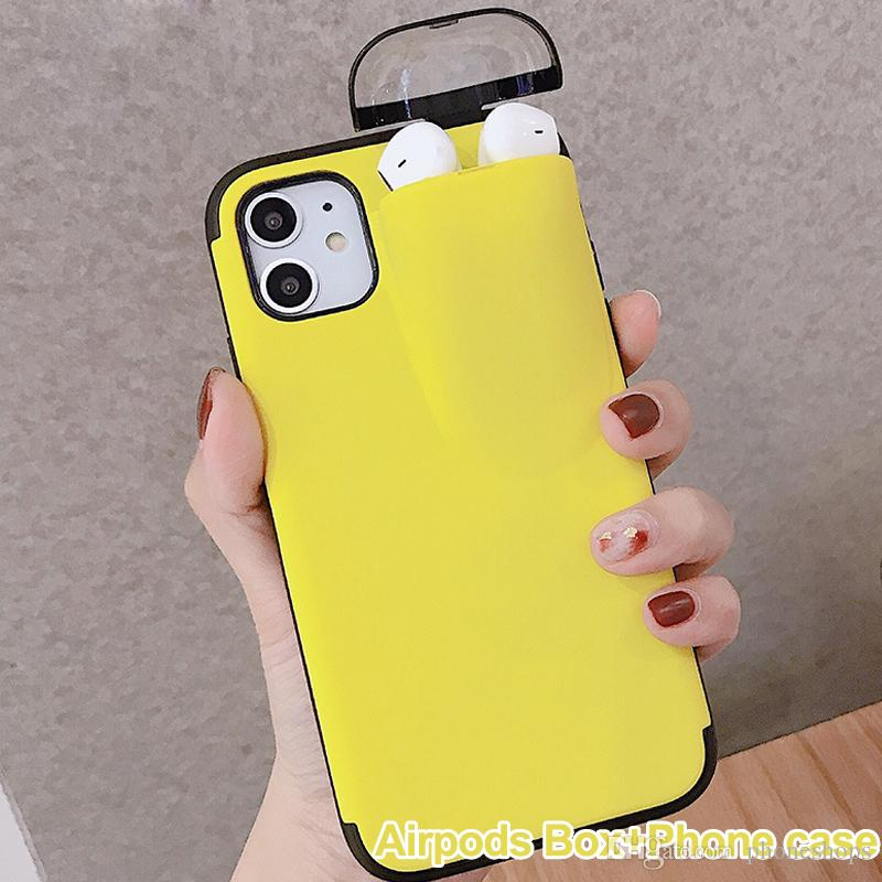 Luxury Designer With Earphone Storage Box Cell Phone 2 In 1 Case For Airpods Pro Iphone 11 Pro Max Best Cell Phone Case Cell Phone Case Wallet From Phoneshops 2 40 Dhgate Com