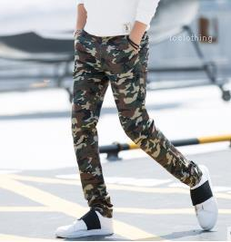 Homens Lápis Calças Moda Casual Masculino Vestuário multi bolso Mens Designer carga Pant Camouflage Magro força elástica