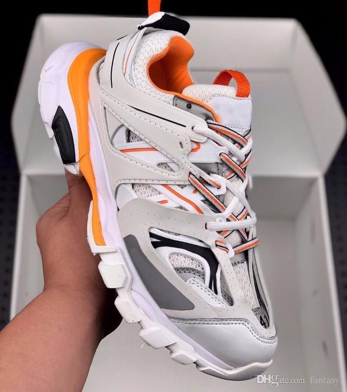 Cheap release 3.0 Tess S Parigi uomini traccia gomma Maille nero Per le donne Triple S Clunky Sneaker Casual Shoes Designer Shoe 36-45