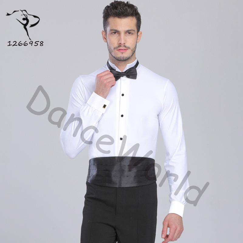 مثير قاعة الرقص قاعة الرقص رجل الرقص قمم قمصان رجالي ارتداءها اللاتينية / التانغو / رومبا dancewear قميص أعلى Dq6032