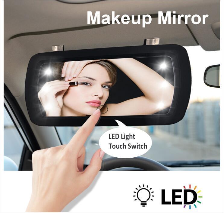 prodotto principale fabbrica Car Led Cosmetic Mirror Visiera HD Interni specchio portatile specchio con la luce della barretta di tocco interruttore