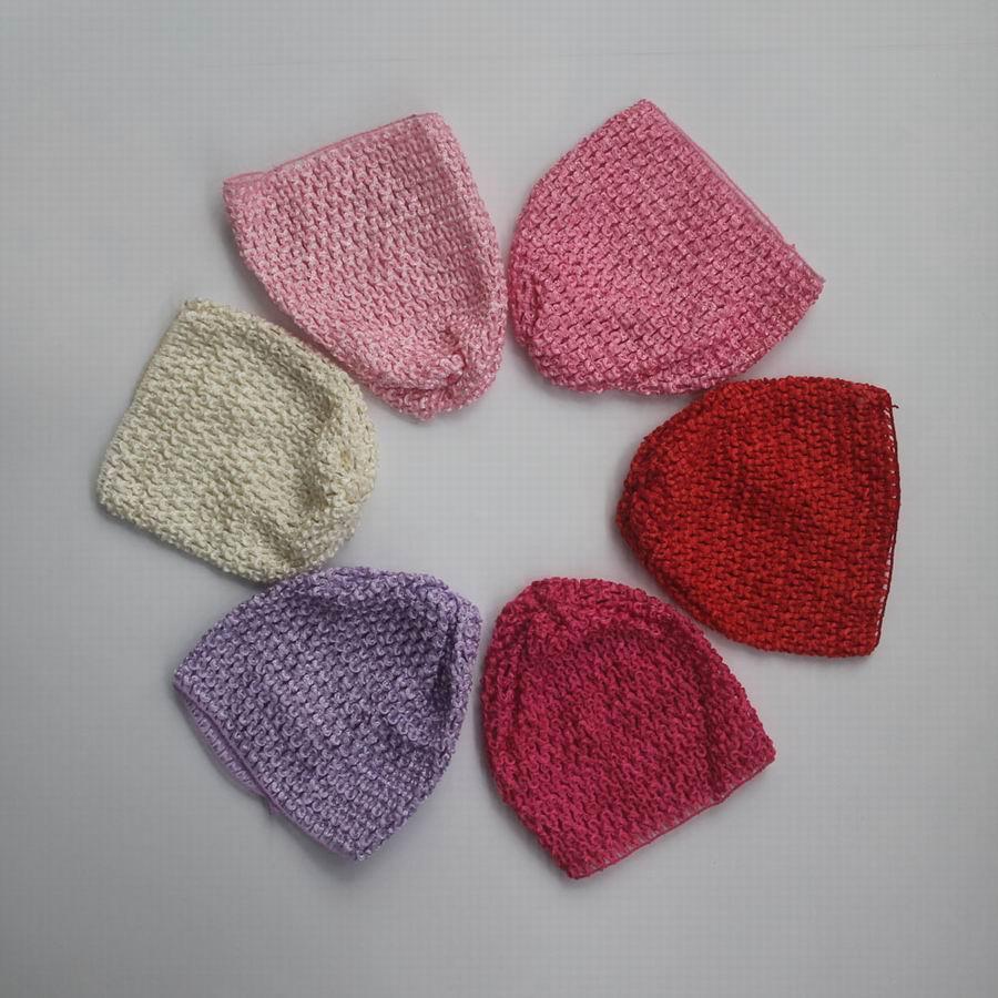 40pcs 11 Farben Elastic Häkeln Hüte für 0-24 Monate Babys Haar-Zusätze, Spandex Wollmütze für Babys