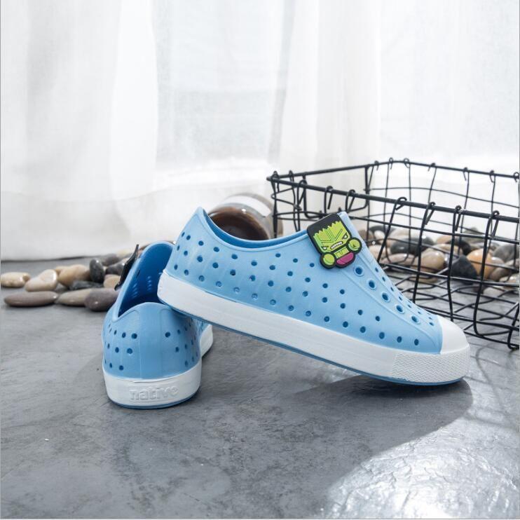 di TeenShoes sandali di modo Coppie bambini caldi di vendita-scarpe buco di marca delle ragazze dei ragazzi dei nativi bambini Pantofole Size 28-44 # 8