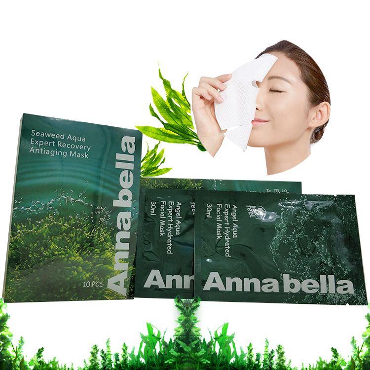 Tailândia Annabella Seaweed Brightening Hidratante Pele Oil Control Cuidados máscara de oxigénio Tecido face Encolher Pore Moistuizing Máscara Facial