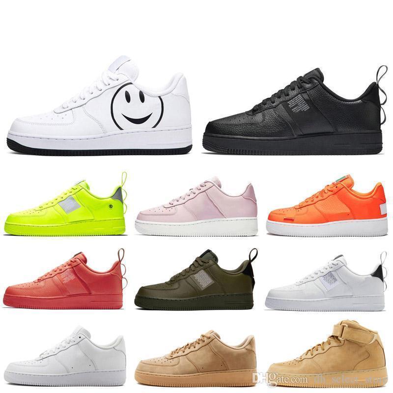 Un 1 dunk Hommes Femmes Chaussures de course Flyline Ones Chaussures blé noir blanc ont un Mens Day Designer Formateurs Chaussures de sport
