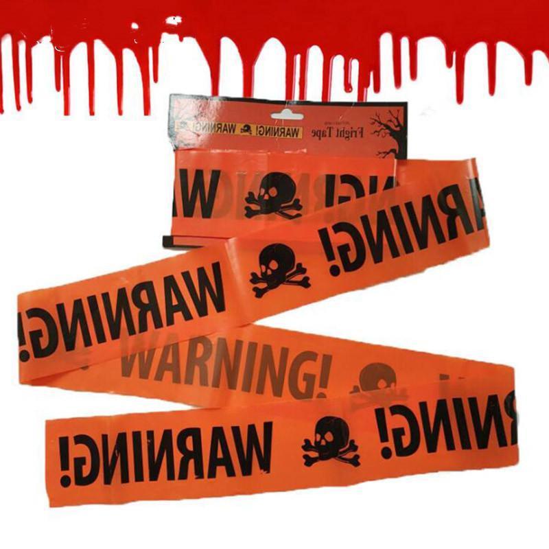 Halloween Attenzione Caution Tape Halloween Party Pericolo nastro di avvertimento nastro di isolamento Cintura Iscriviti accessori per la decorazione del giardino 580x8.5cm Halloween