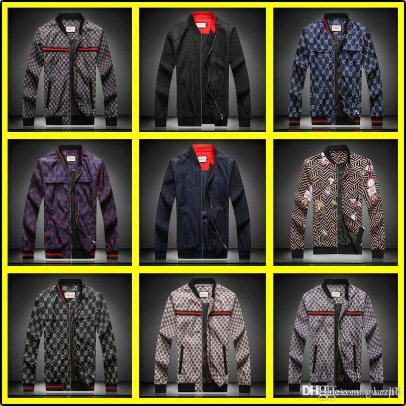 21fw Uomini Donne Windbreaker Designers giacca sportiva del risvolto del cappotto del collo Autunno Inverno Circolo Stampa Giacca guoh Nero Bianco Designers Uomo