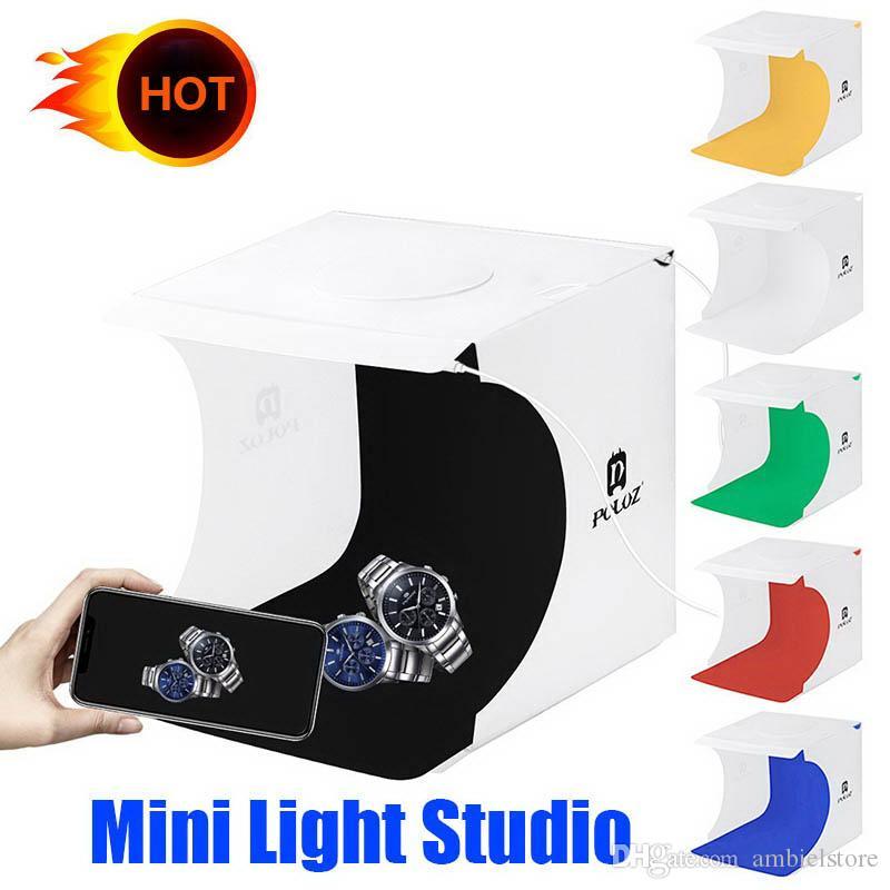 20 * 20 cm 8 Mini Folding Studio Diffuse contenitore molle ID con la fotografia bianco nero LED background casella Photo Studio