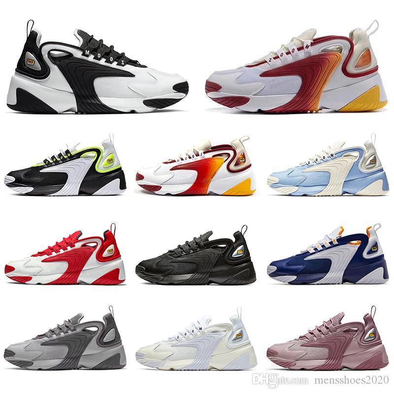 Nike Avec Chaussettes Top qualité m2K Tekno Zoom 2K Femmes Hommes Chaussures Baskets mode Race Rouge Noir Blanc Triple Noir bleu royal Souliers de course