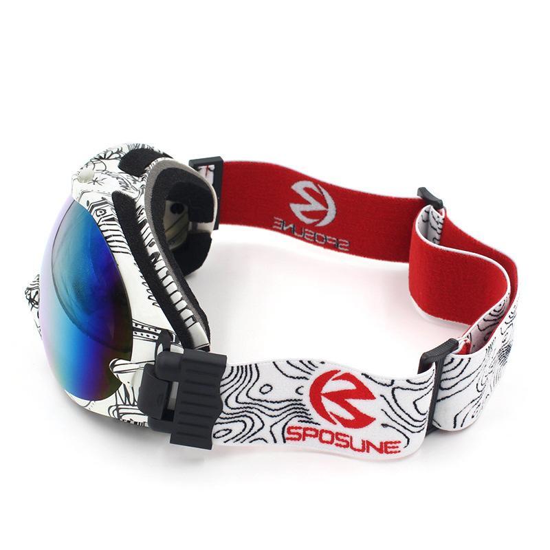 عدسة مزدوجة لمكافحة الضباب نظارات تزلج الرجال النساء نظارات التزلج بنين بنات معدات التزلج غوغل نظارات gafas نظارات الجليد