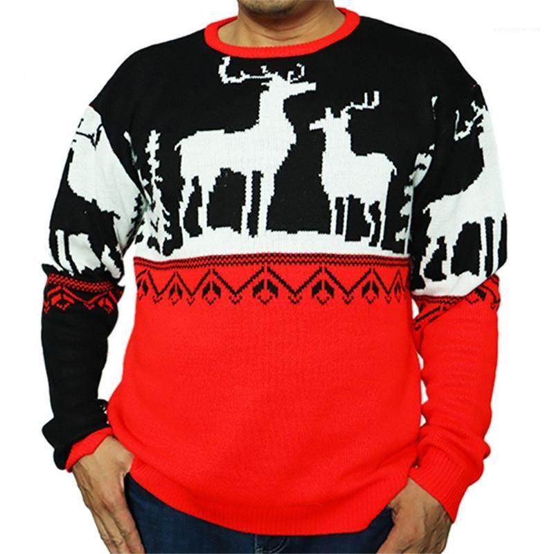 Modello girocollo rosso e casuale colore nero Felpe Natale Mens Maglioni di Natale del progettista del Mens Maglioni Moda Renna