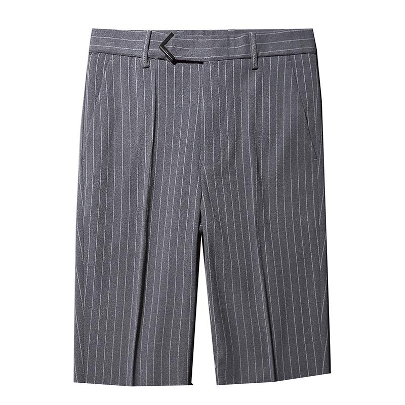 Suit pants men's casual suit pants men's five-point striped quality fabric straight large size