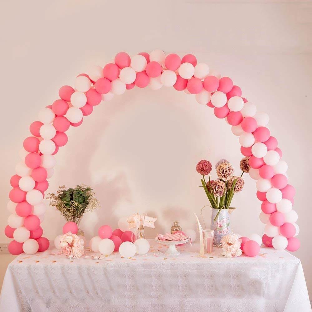 38 unids / set globo de plástico arco fiesta de cumpleaños decoración de la boda mesa ajustable globo arco marco soporte kit fiesta suministros SH190913