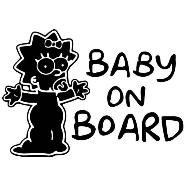 15 * 21 cm bebé en la etiqueta tablero de vinilo divertido de auto reflexiva del coche CA-1086