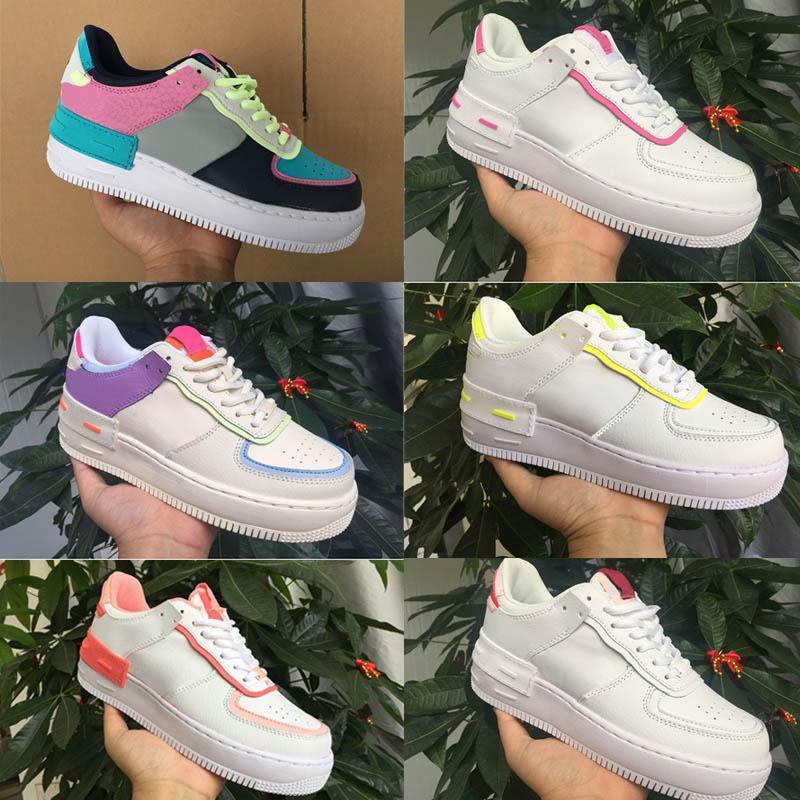 Hot Venda Nova Creme Mulheres Meninas Doces Macaron Correndo Tênis 1 Sombra Tropical Torção Esporte Sapatos Casuais One Skate Sapatilhas