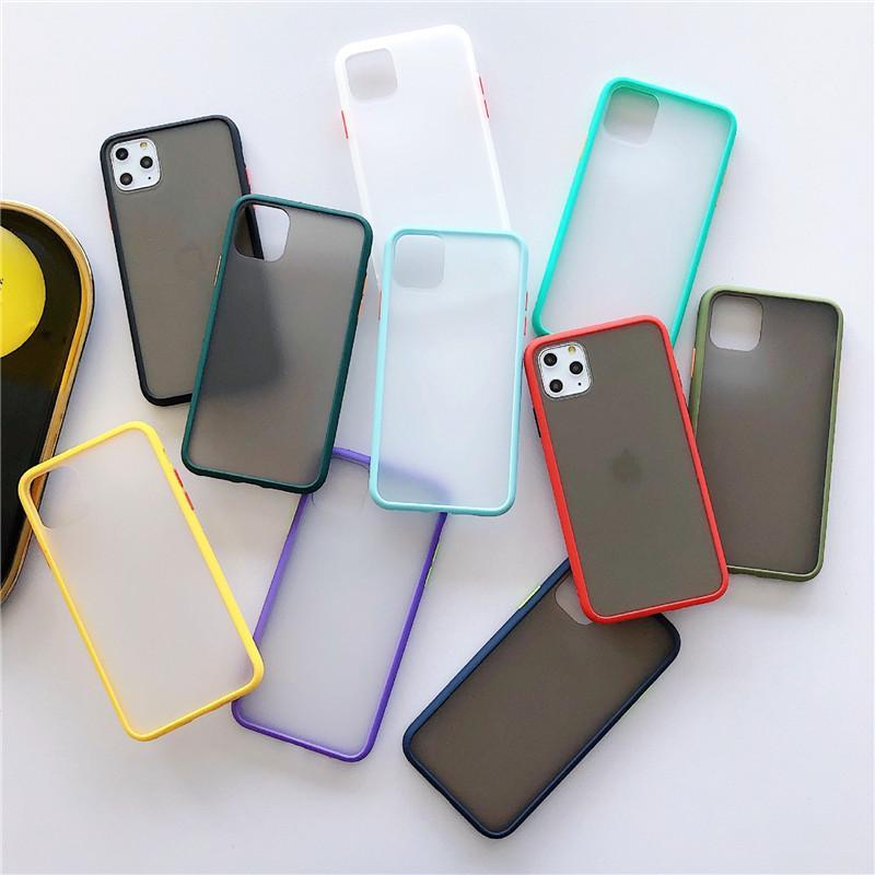 Novo caso de pele de telefone para o iPhone 11 pro Max X XR XS Max 6 6s 6plus 7 7plus 8 8plus Proteção 3D Defender tampa traseira do PC + TPU fosco telefone caso