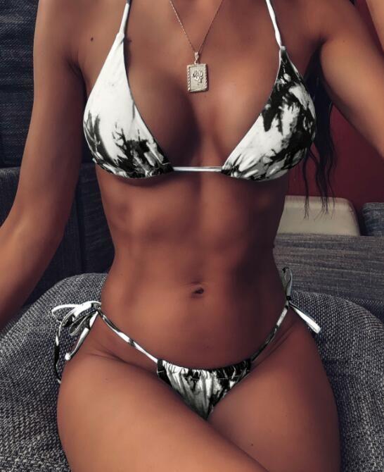 Bikini regolati vita alta Un pezzo cinghia di un pezzo del bikini della fasciatura del pannello ritaglio costumi da bagno sexy fibbia stampare yakuda dalla fasciatura dell'oro della scala di pesci solido