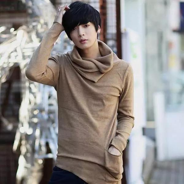 1567a8f8 2017 New Fashion T Shirt Unbalance Turtle Shirring Pocket Long ...