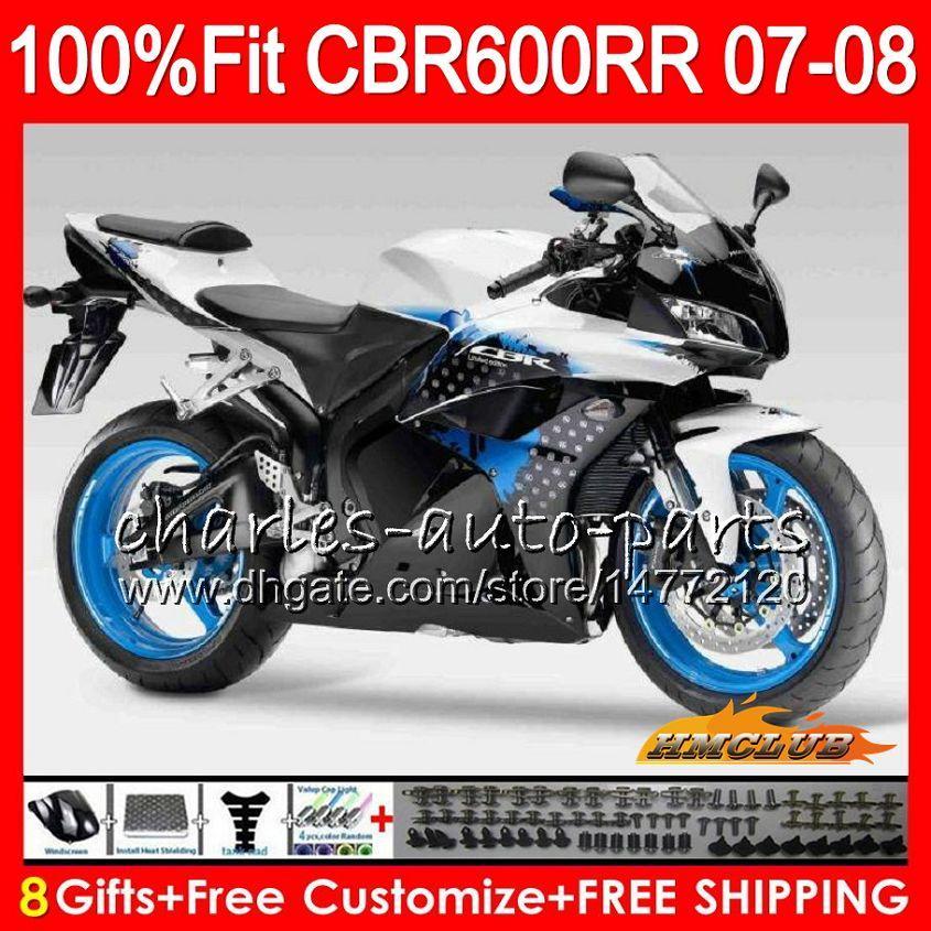 2sets inyección para Honda CBR600RR 07-08 carenado kit1 CBR600RR 07-08 faros + 3 r6 2008 1 ZX6R 2007 rearseats + 1 GSXR600 2008 rearfootrest
