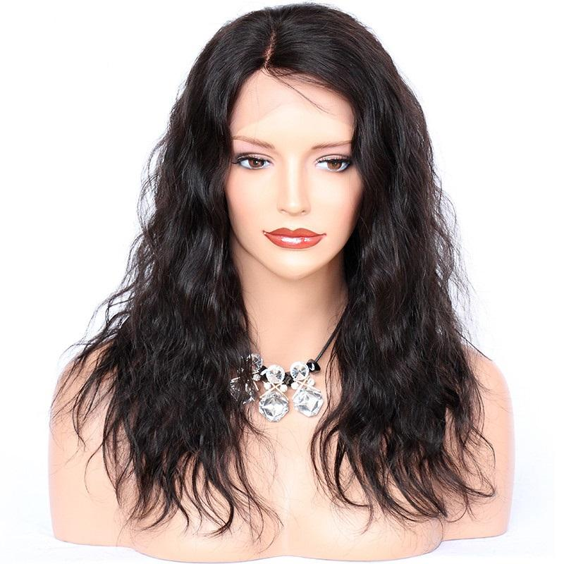 Lace Front Human Hair Wigs 4x4 SIlk Base Wigs Natural Wave Top Brazilian Remy Silk Top Wig Pre Plucked 150 180 Density In Stock