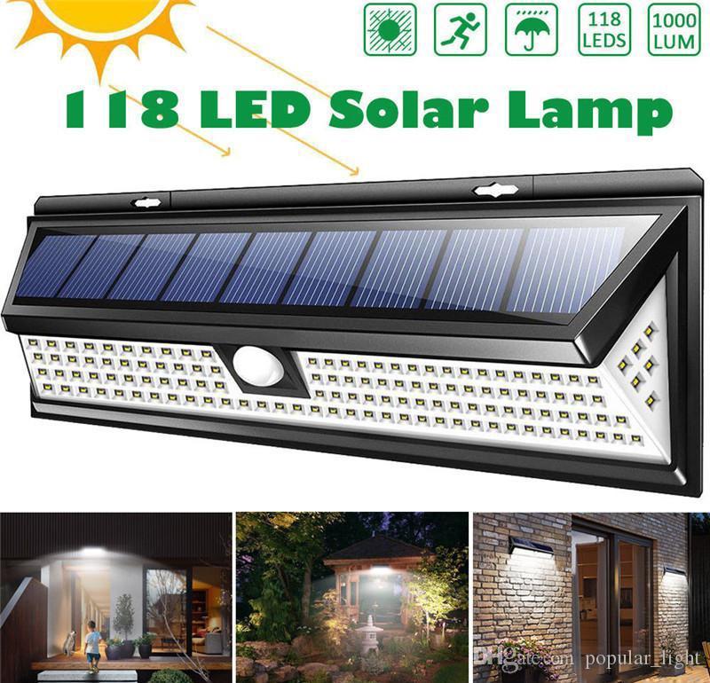 Su geçirmez PIR Hareket Sensörü Güneş Bahçe Işık Mekan LED Solar Lamba Modları Güvenlik Havuz Kapı Solar Aydınlatma