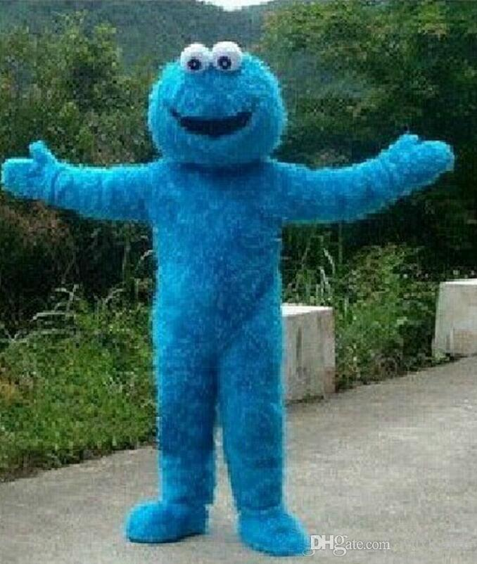 2020 Monster nueva Plaza Sésamo Elmo Rojo Azul Cookies traje de la mascota, envío carnaval Animal + Free