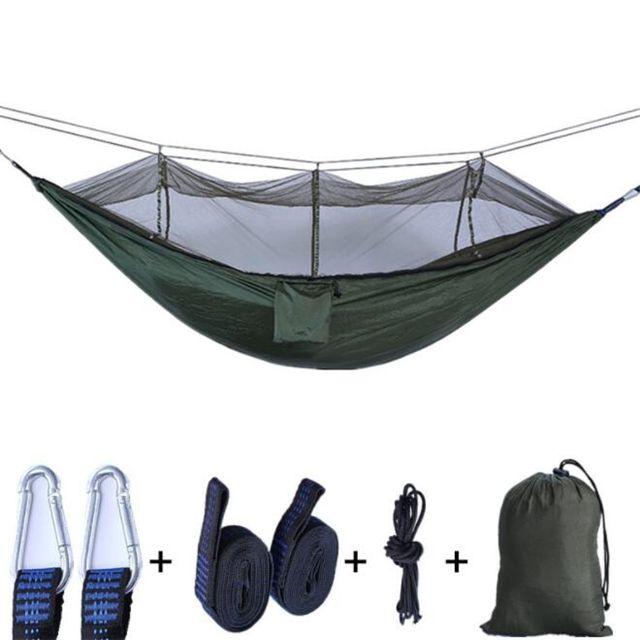 도매 야외 빽빽한 그물 해먹 낙하산 캠핑 텐트 260 * 140CM 나무 침대 고 강도 자연 하이킹 CH00