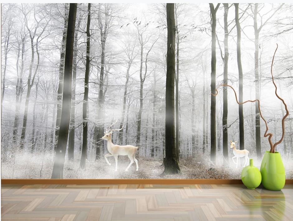 modern wallpaper for living room beautiful scenery wallpapers Modern forest background wall painting decorative painting