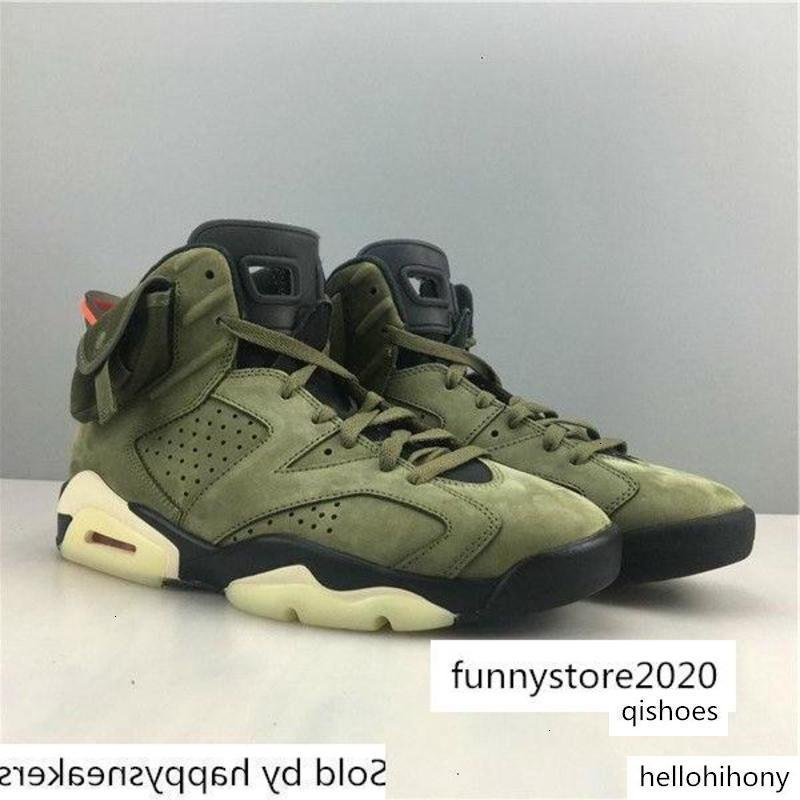 6 7 12 Arrivée Travis Scott X Airs Mens Basketball Medium Olive S Designer Taille Sneakers - Chaussures