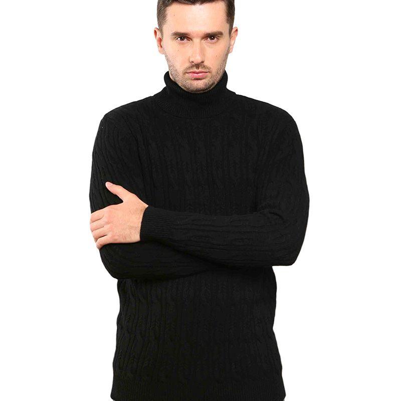 Hommes Pull à col roulé Twist pull en tricot 100% laine mérinos cachemire homme doux haut col roulé style européen Pull Nouveau 2020