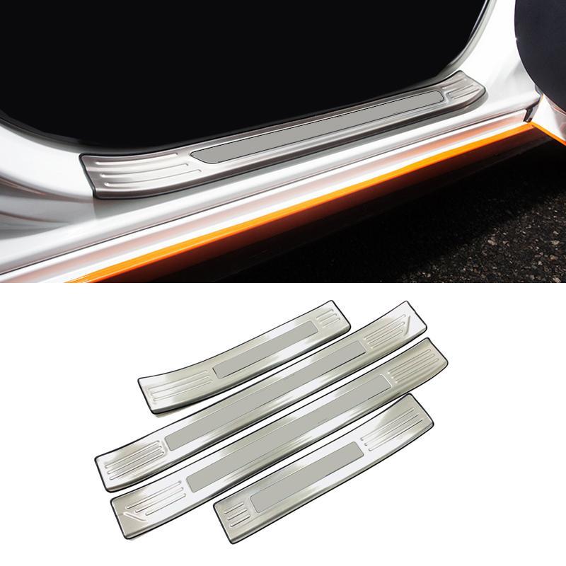 Para Mazda Axela 3 M3 2019 2020 exterior de acero inoxidable del desgaste del travesaño de la puerta 4pcs placa cubierta del protector