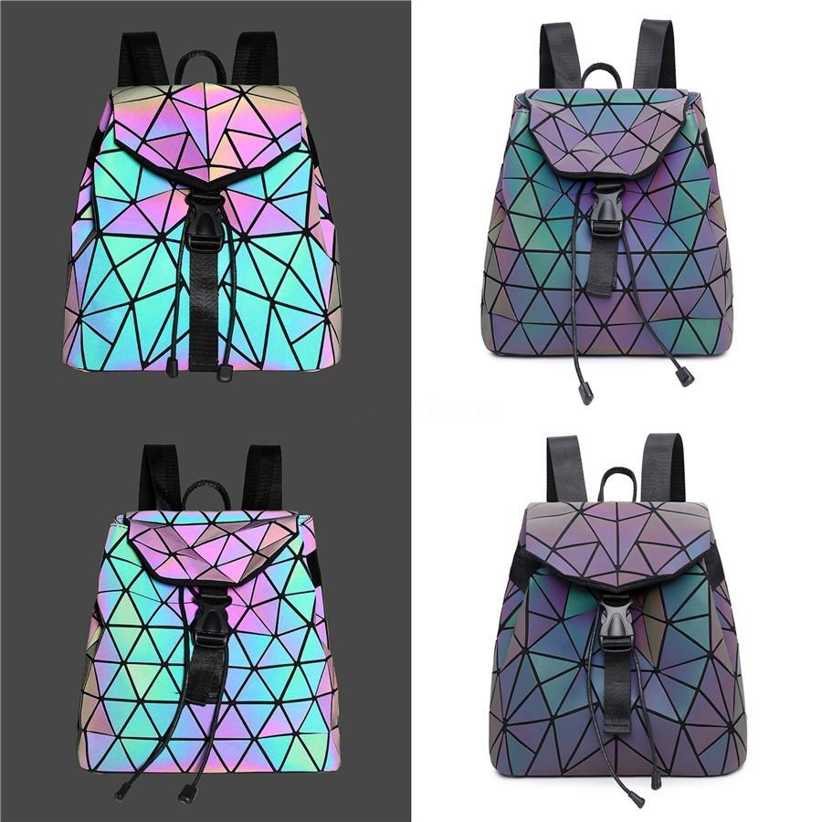 2020 Laser Bolsas para mujeres de piel de lujo Mochila bolso ocasional de las mujeres diseñador de los bolsos geométricos para las muchachas del bolso de hombro Sac principal # 160