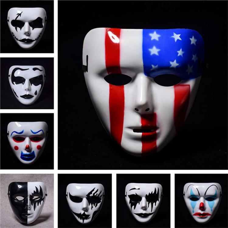 Masques terroristes Halloween Masque Horreur Ghost Crier Masque Squelette Halloween crâne grimaçant maquillage T1I1010 du parti 14color