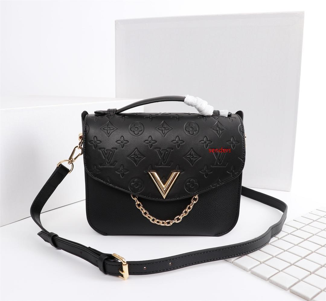 Klassische Mode Frauen Handtaschen Lange Griff Frauen Schultertasche beiläufige Totes Einkaufstasche 53882
